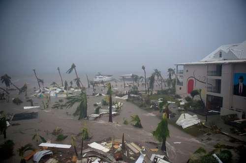 خسارات گسترده توفان ایرما به جزیره سنت مارتین در دریای کاراییب
