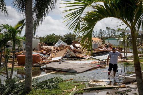 ویرانیهای برجای مانده از توفان مهیب ایرما در ایالت فلوریدا آمریکا