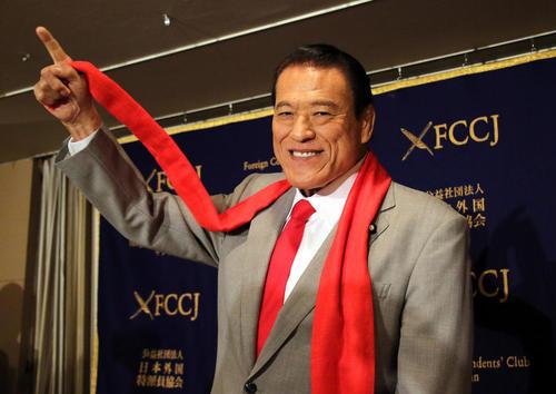 بازگشت آنتونیو اینوکی سیاستمدار کشتی گیر ژاپنی از سفر 5 روزه به کره شمالی – توکیو