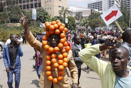 تظاهرات جنبش دموکراتیک پرتقالی در شهر نایروبی کنیا