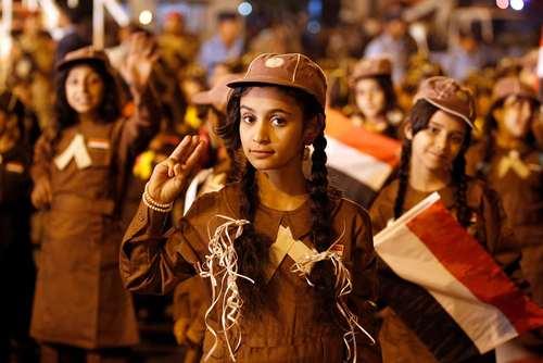 آیین گرامیداشت پنجاه و پنجمین سالگرد انقلاب سال 1962 در شهر صنعا یمن