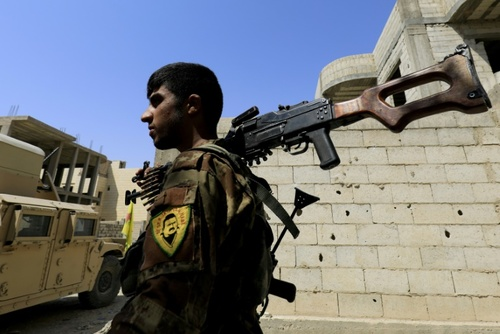 یکی از نیروهای گروه کردی