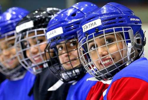 جلسه تمرینی تیم ملی هاکی روی یخ زنان کویت