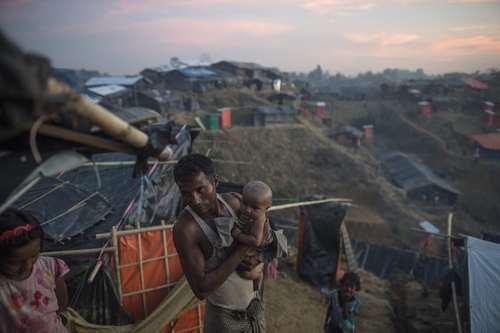 اردوگاه اسکان پناهجویان مسلمان میانماری در بنگلادش