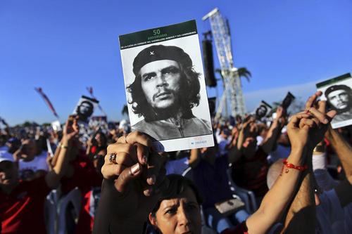 گرامیداشت ارنستو چگوارا از رهبران انقلاب کمونیستی کوبا در پنجاهمین سالمرگ او – شهر سانتا کلارا کوبا