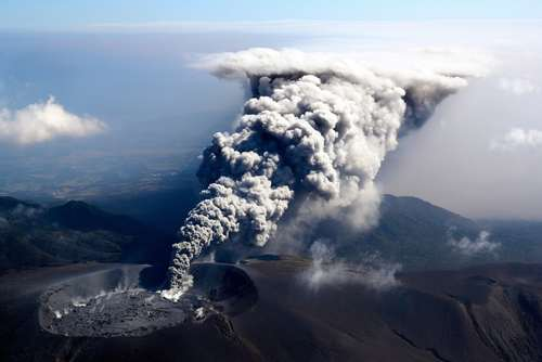 فعال شدن یک کوه آتشفشان در ژاپن