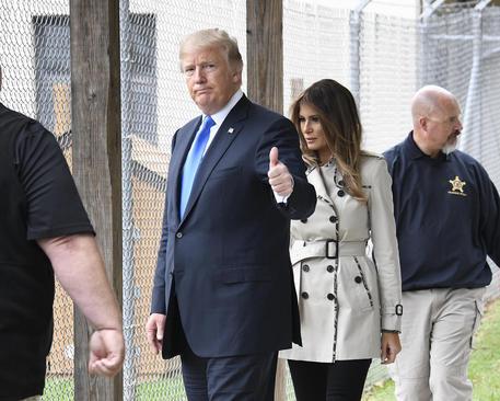بازدید ترامپ و همسرش از مرکز آموزش سرویس مخفی آمریکا در مریلند. سرویس مخفی مسئولیت تامین امنیت رییس جمهور و خانواده او را بر عهده دارد