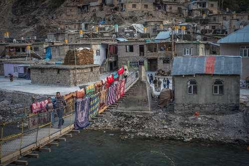 نمایی از یک بخش حومه ای در شهر وان ترکیه