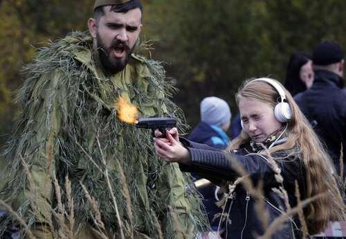 تیراندازی در یک نمایشگاه نظامی در شهر سن پترز بورگ روسیه