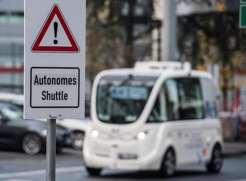 بکارگیری آزمایشی خودروهای بدون راننده در فرودگاه بین المللی شهر فرانکفورت آلمان