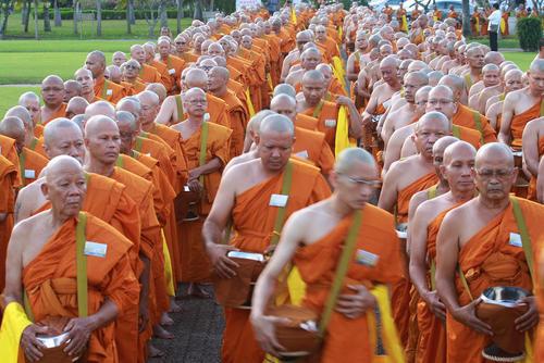 راهبان بودایی در تایلند