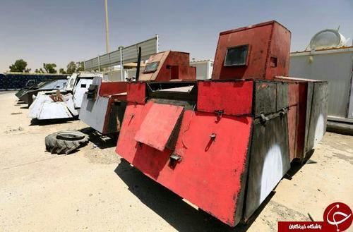 خودروهای زرهی خودساخته داعش برای پیشروی حداکثری در مناطق جنگی و انجام عملیات انتحاری