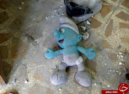 نمونهای از عروسکهایی که داعش برای کشتن کودکان در آنها بمب جاسازی میکرد