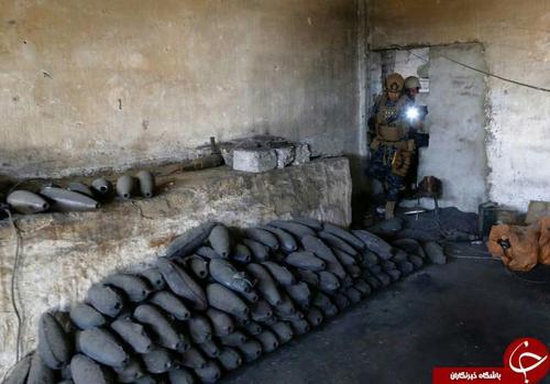 انبار تسلیحات داعش در یک خانه متروکه