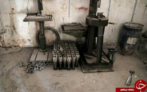 یک کارخانه کوچک تولید خمپاره در رقه