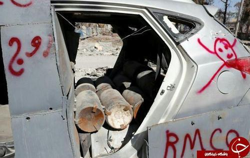 نمونهای از خودروهای بمبگذاری شده داعش برای انجام عملیات انتحاری