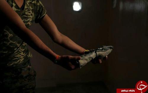 کمبربند انفجاری تروریستهای داعش در رقه
