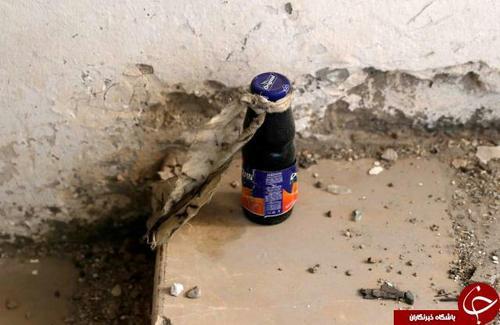یک بمب عملنکرده که داخل بطری آبمیوه جاسازی شده است