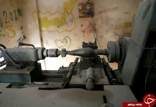 یک کارگاه تسلیحاتسازی کوچک برای ساخت خمپاره