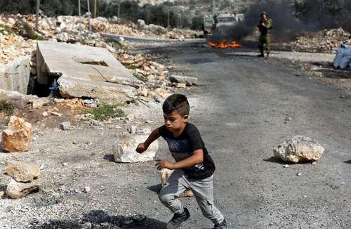 تظاهرات ضد اسراییلی در نابلس فلسطین