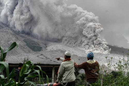 فعالیت آتشفشانی در کارو اندونزی