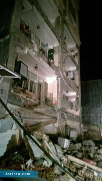 خسارت وارده به یک ساختمان در شهرستان اسلام آباد غرب کرمانشاه