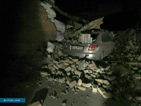 آثار زلزله در شهر قصر شیرین  کرمانشاه