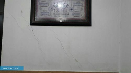آثار زلزله در شهر سقز  استان کردستان