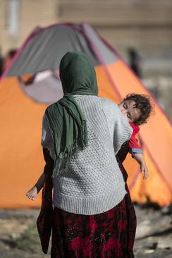 اردوگاه اسکان زلزله زدگان در سرپل ذهاب