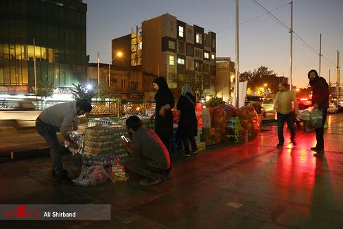 کمکهای مردم تهران به زلزلهزدگان کرمانشاه (عکس)