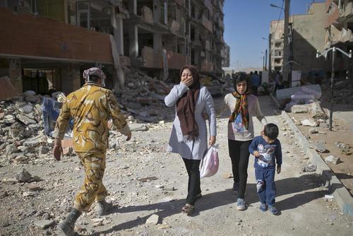 خیابان های شهر زلزله زده سرپل ذهاب در استان کرمانشاه ایران / عکس: احمد حلبی ساز/ شینهوا