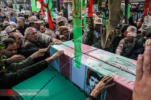 تصاویر/ تشییع شهید حبیب الله اسلامی در بیله سوار