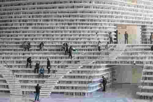 کتابخانه بزرگ شهر تیانجین چین