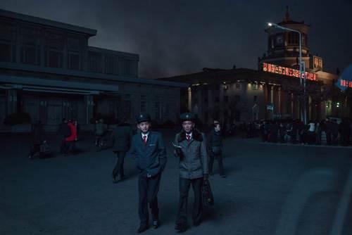 ایستگاه مرکزی قطار در شهر پیونگ یانگ کره شمالی