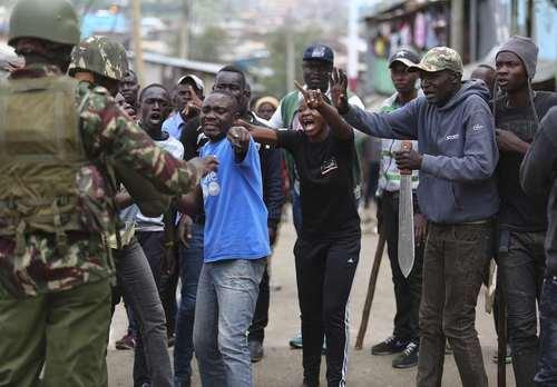 تظاهرات حامیان رهبر مخالفان حکومت کنیا در شهر نایروبی
