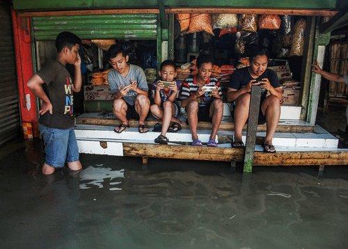 سیل در باندونگ اندونزی
