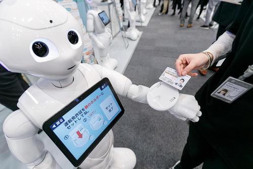 نمایشگاه روبات سافت بانک در توکیو