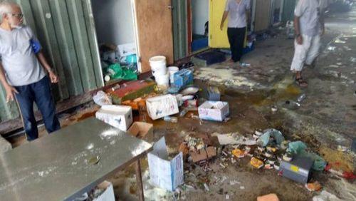 تخریب وسایل پناهجویان در اردوگاه از سوی پلیس