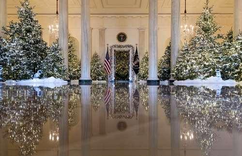 تزیینات کریسمس 2017 در کاخ سفید/ عکس: آسوشیتدپرس