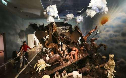 کشتی نوح شکلاتی در موزه شکلات در استانبول