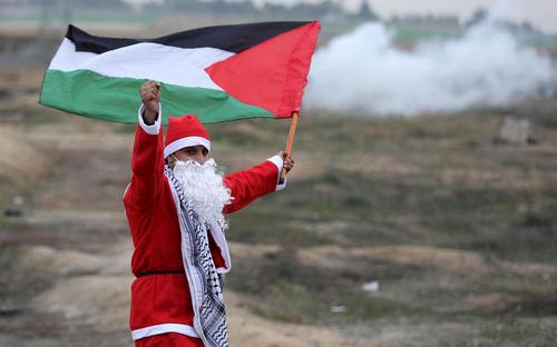 ادامه تظاهرات فلسطینی ها علیه طرح جنجالی ترامپ برای شناسایی شهر قدس به عنوان پایتخت اسراییل- باریکه غزه