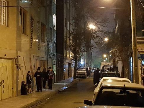 نازی آباد تهران، دقایقی پس از زلزله ۵.۲ ریشتری که مردم هراسان را به خیابانها کشاند