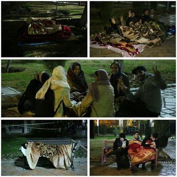 مردم تهران در پارک ها استراحت می کنند