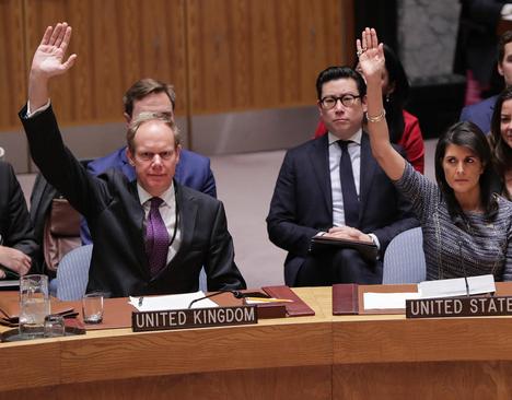 رای مثبت نمایندگان آمریکا و بریتانیا به قطعنامه جدید تحریمی شورای امنیت علیه کره شمالی در جلسه این شورا در نیویورک