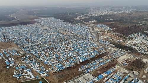 تصویری هوایی از اردوگاه
