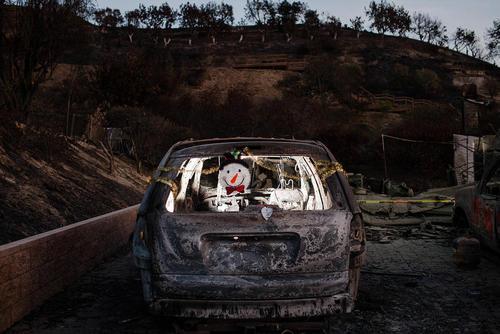 بقایای آتشسوزی گسترده جنگلی در ایالت کالیفرنیا آمریکا