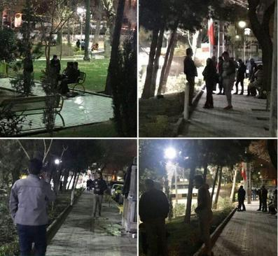 حضور مردم تهران در پارکها