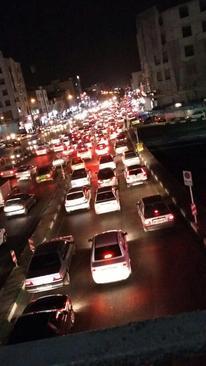 ترافیک سنگین خیابان پیروزی تهران