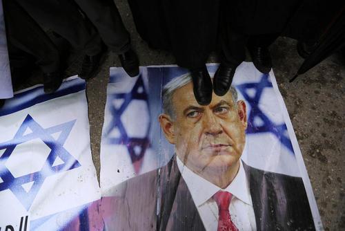 تظاهرات جنبش جهاد اسلامی فلسطین در باریکه غزه در اعتراض به تصمیم دونالد ترامپ در انتقال سفارت آمریکا از تل آویو به شهر قدس