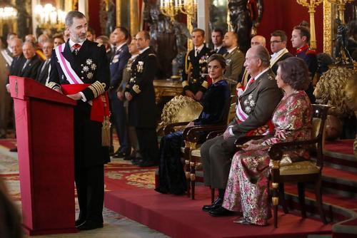 سخنرانی پادشاه اسپانیا در جمع فرماندهان ارتش در سالزور تولد حضرت مسیح – مادرید